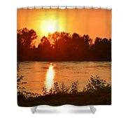 Missouri River In St. Joseph Shower Curtain
