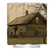 Missuakee County Log Cabin Shower Curtain