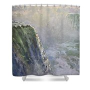 Mist At Horseshoe Falls  Shower Curtain