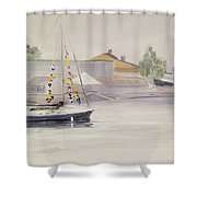 Mist-bound Shower Curtain