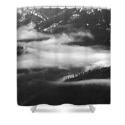 Mist In The Valley  Shower Curtain