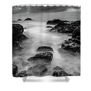 Mist On The Water In Monochrome Shower Curtain