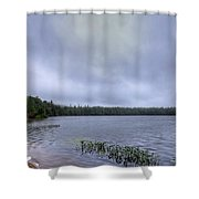 Mist Over Nicks Lake Shower Curtain