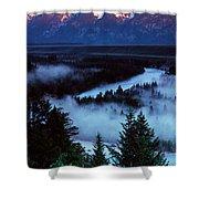 Mist Over Snake River, Sunrise Light Shower Curtain