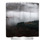 Mist Rolling Down Shower Curtain