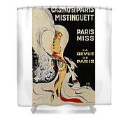 Mistanguette At The Casino De Paris Shower Curtain