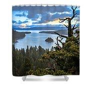 Mistic Tahoe Sunrise Shower Curtain