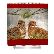 Mistletoe Magic Shower Curtain