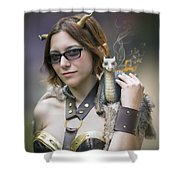 Mistress Of Dragons Shower Curtain