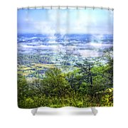 Mists In The Valley Shower Curtain