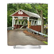 Misty Afternoon At Burkholder Shower Curtain