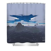 Misty Archipelago Shower Curtain