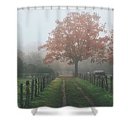 Misty Autumn Morning Shower Curtain