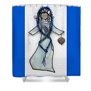 Mystic Blue Shower Curtain