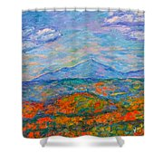 Misty Blue Ridge Autumn Shower Curtain