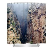 Misty Canyons Shower Curtain