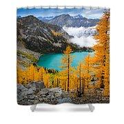 Misty Colchuck Lake Shower Curtain