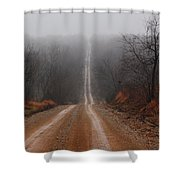 Misty Country Road Shower Curtain