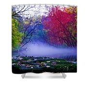 Misty Creek Shower Curtain