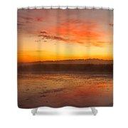 Misty Dawn#1 Shower Curtain