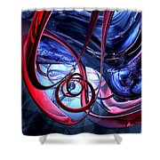 Misty Dreams Abstract Shower Curtain