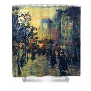 Misty Effect Paris Shower Curtain