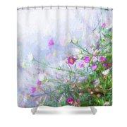 Misty Floral Spray Shower Curtain
