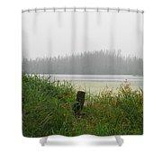 Misty Lake Shower Curtain