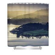 Misty Lake Windermere Shower Curtain