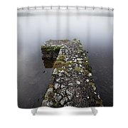 Misty Lough Erne Shower Curtain