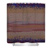 Misty Moisty Landscape Abstraction Shower Curtain
