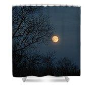 Misty Moonrise Shower Curtain