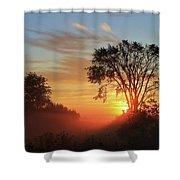 Misty Morning Shower Curtain