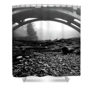 Misty Morning In Black And White Shower Curtain