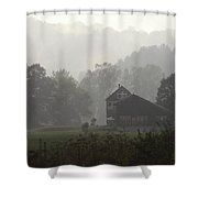 Misty Morning In Vermont Shower Curtain