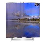 Misty Morning On A Canoe Shower Curtain