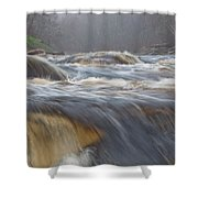 Misty Morning On The River Shower Curtain
