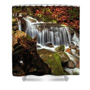 Misty Morning Waterfall Shower Curtain
