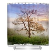 Misty Mountain Shower Curtain