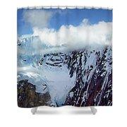Misty Mountain Flat Top Shower Curtain