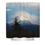 Misty Mountain Top Shower Curtain