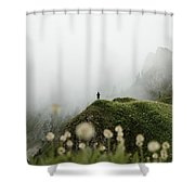 Misty Mountain View Shower Curtain