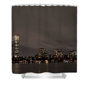Misty Night On The Charles River Boston Ma Shower Curtain