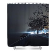 Misty Night Shower Curtain