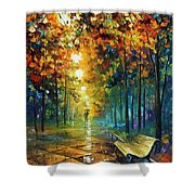Misty Park Shower Curtain