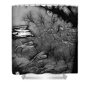 Misty River Shower Curtain