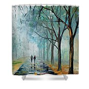 Misty Stroll Shower Curtain