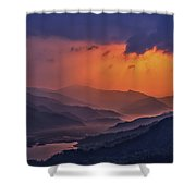 Misty Sunset Shower Curtain
