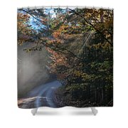Misty Turn In The Road Shower Curtain