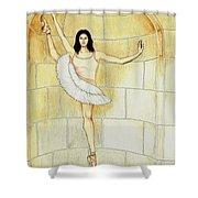 Misty Vi - La Ballet Statuette Shower Curtain